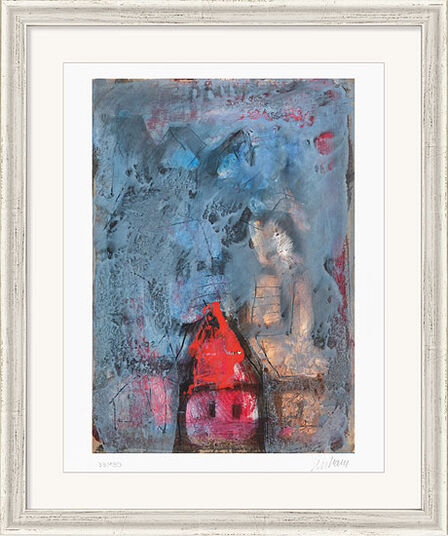 """Armin Mueller-Stahl: Bild """"Das rote Haus"""" (2012), gerahmt"""