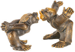 "Sculpture pair ""A Kiss – A Kiss"" in set, artificial casting"