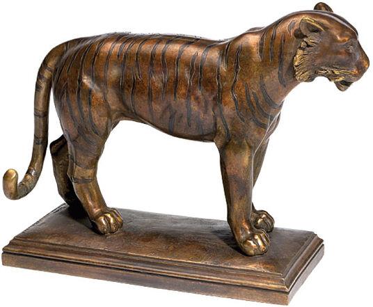 "Andreas Artur Hoferick: Skulptur ""Tiger"", Version in Steinguss"