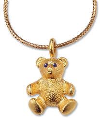 """Teddy-Collier """"Mein bester Freund"""", Version Silber vergoldet"""