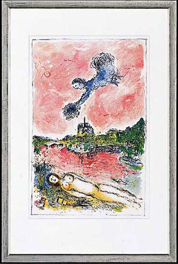"""Marc Chagall: Bild """"Vue sur Notre Dame"""", 1981"""