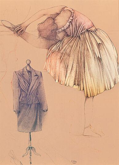 """Bruno Bruni: Picture """"Ballerina e manichino"""""""