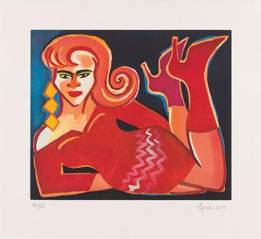 """Elvira Bach: Bild """"Liegende"""" (2013)"""