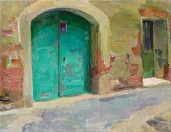 """Bild """"Grüne Tür"""" (2005) (Unikat)"""