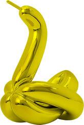 """Skulptur """"Swan (Yellow)"""" (2017)"""