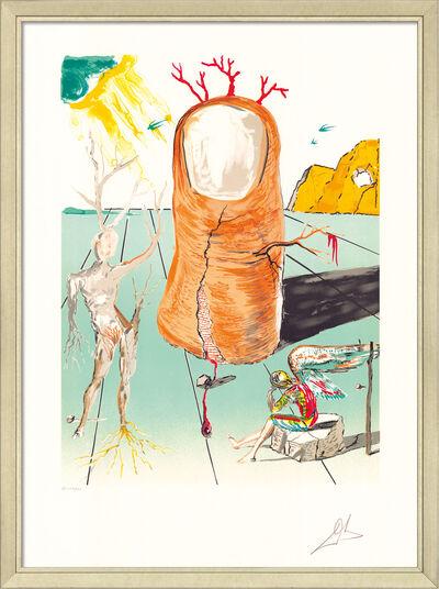 """Salvador Dalí: Bild """"Retrospect. II: La vision del Angel del Cap d'Creus"""", gerahmt"""