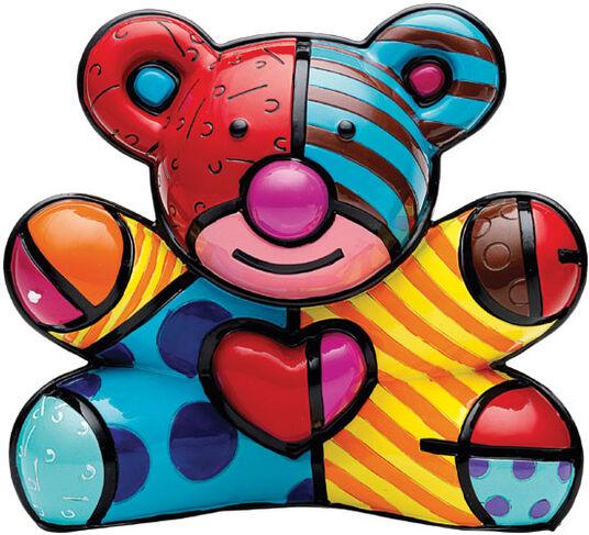 """Romero Britto: Teddyfigur """"Fun"""", Kunstguss"""