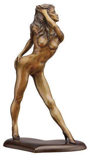 """Jochen Bauer: Skulptur """"Queen of Heart"""", Bronze"""