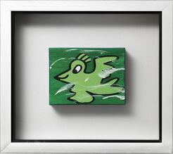 "Bild ""Bird, grün"" (Unikat)"