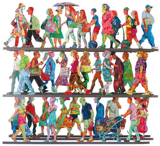 "David Gerstein: 3D-Wandskulptur ""5th Avenue J"" (2016)"