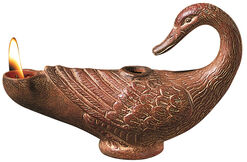 Duck-shaped oil lamp