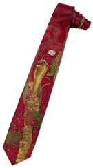 "Silk tie ""water snakes"" Red edition"