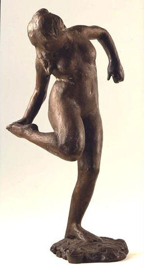 "Edgar Degas: Sculpture ""Dancer Adjusting Her right shoe attractive"", bronze"