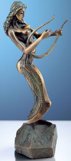 """Nikolay Anev: Skulptur """"Vision am See"""", Bronze"""