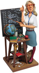 """Caricature """"The teacher"""" Art castings, hand painted."""