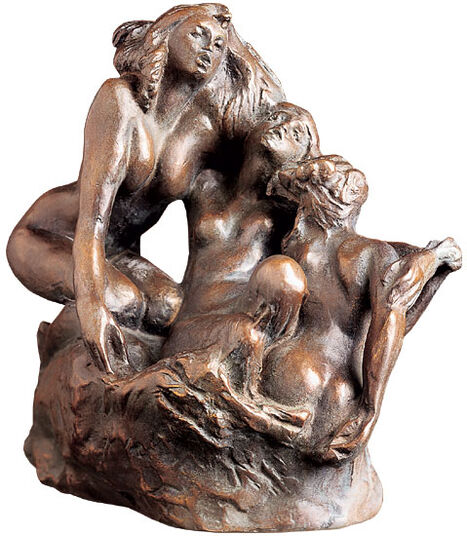 "Auguste Rodin: Sculptural group ""Sirens"" (1880), bronze art"