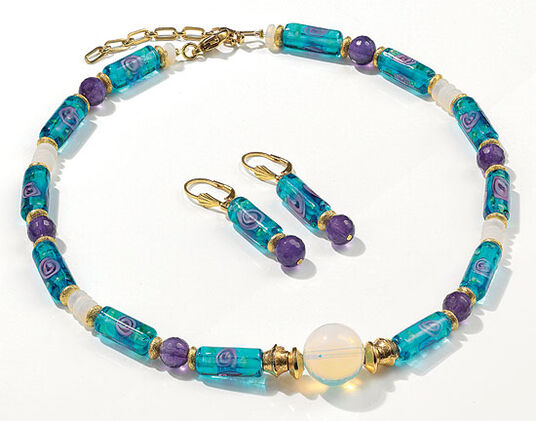 """Petra Waszak: Jewellery Set """"Nympheas"""""""