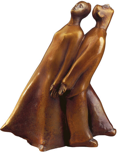 "Günter Grass: Sculpture ""Back to back"" (2002), bronze"