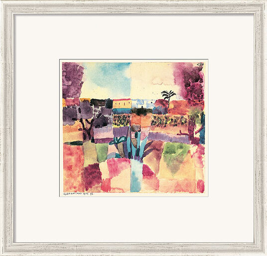 """Paul Klee: Bild """"Hammamet"""" (1914), gerahmt"""