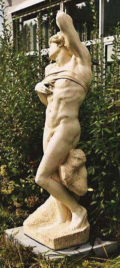 "Michelangelo Buonarroti: Skulptur ""Sterbender Sklave"" (Originalgröße), Kunstmarmor"