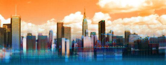 "Painting ""New York Skyline"" (2011)"