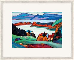 """Bild """"Staffelsee"""" (1935-1936), gerahmt"""
