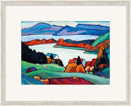 "Gabriele Münter: Bild ""Staffelsee"" (1935-1936), gerahmt"
