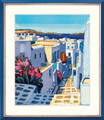 "Picture  ""Ruelle fleurie a Mykonos"" (2004)"