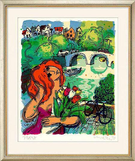 "Michael Leu: Bild ""By the canal"" (1995), ungerahmt"