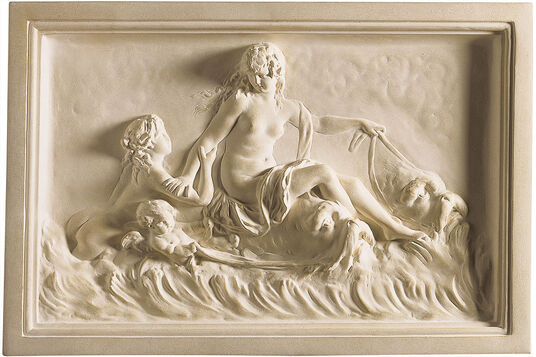 "Clodion: wall relief ""Naiads and Delphine"", artificial marble"