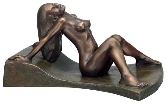 "Peter Hohberger: Sculpture ""Nude"", version in bronze"