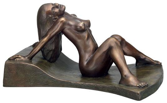 """Peter Hohberger: Skulptur """"Akt"""", Version in Bronze"""