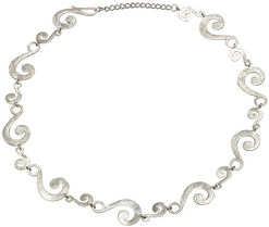 "Collier ""Silver Wave"""