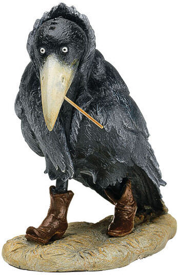 "Jochen Bauer: Sculpture ""Raven"" - according to Rudi Hurzlmeier cast stone edition"