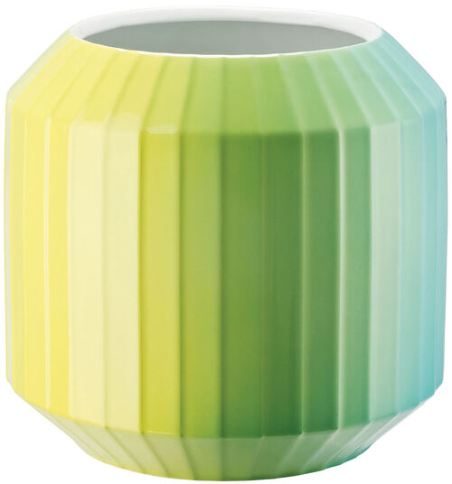 "Christine Rathmann: Porzellanvase ""Hot-Spots - Lime Flush"" (mittelgroß, Höhe 22 cm)"