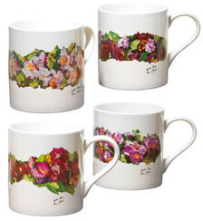"4 Coffee Cups ""Sylter Roses"" in the Set"