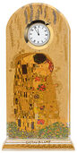 "Gustav Klimt: Table clock ""The Kiss"" with gold decoration"