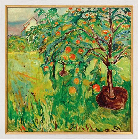"Edvard Munch: Bild ""Apfelbaum am Atelier"" (1920-28), gerahmt"