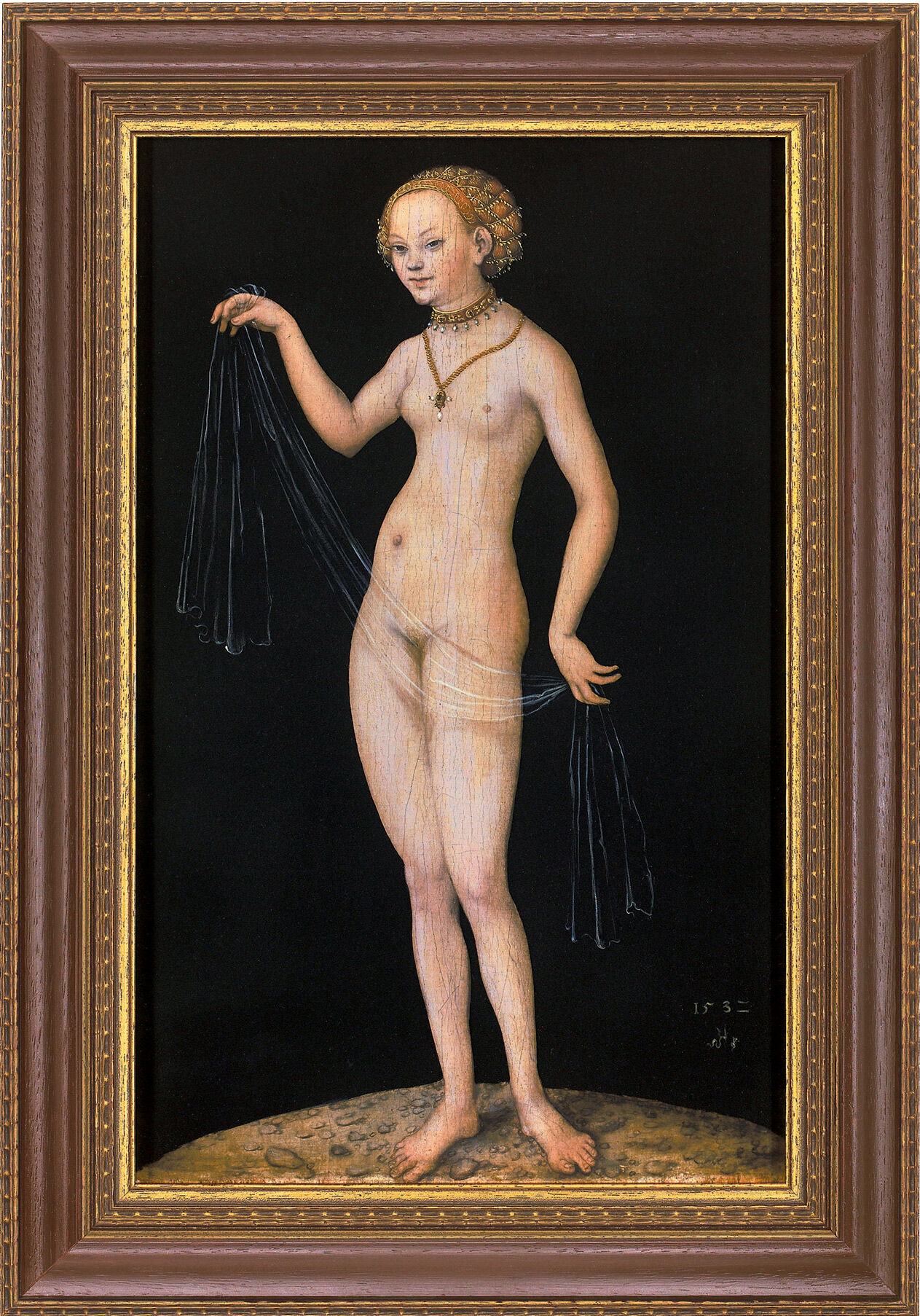 "Picture ""Venus"" (1532) in Museum frame"