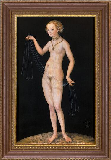 "Lucas Cranach der Ältere: Bild ""Venus"" (1532), gerahmt"
