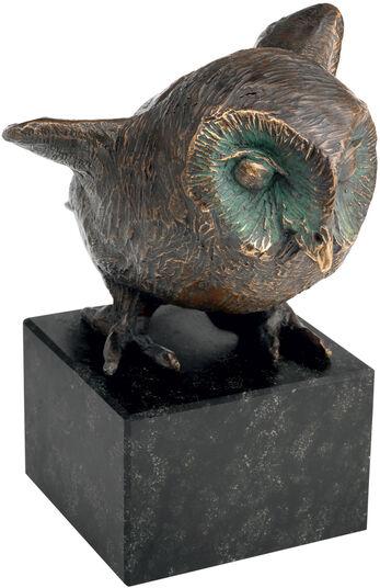 "Kurt Arentz: owl sculpture ""The guardian of the nest"", bronze"