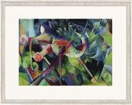"""Bild """"Reh im Blumengarten"""" (1913), gerahmt"""