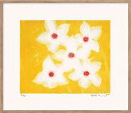 """Bild """"Fünfmal Weiß auf Gelb"""" (2000)"""