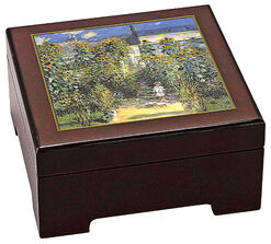 "Musical jewelry box ""Le Jardin de Monet à Vétheuil"" - by Claude Monet"