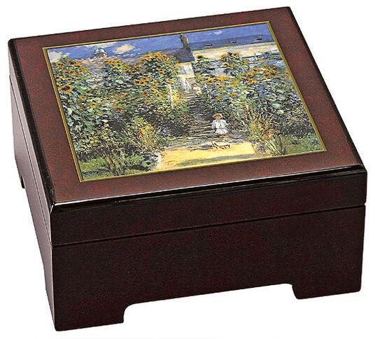 """Claude Monet: Musik-Schmuckbox """"Le Jardin de Monet à Vétheuil"""""""