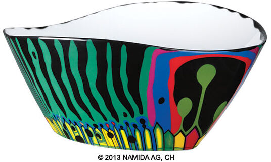 "Friedensreich Hundertwasser: Bowl ""The Magical Garden"", Big, Version in Green"