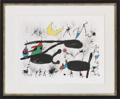 "Bild ""Homenatge á Joan Prats"" (1971) (Mourlot Nr. 717)"