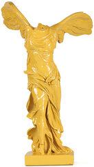"Skulptur ""Nike von Samothrake"", Kunstguss gelb"
