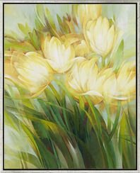 "Bild ""Gelbe Tulpen"" (Original / Unikat), gerahmt"