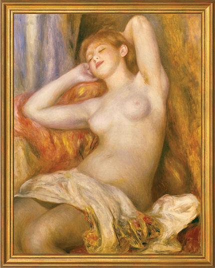 """Auguste Renoir: Bild """"Das schlafende Mädchen"""" (1897), gerahmt"""